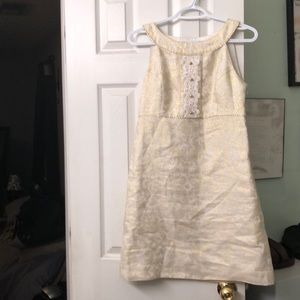 Size 2 gold and cream Lilly Pulitzer dress